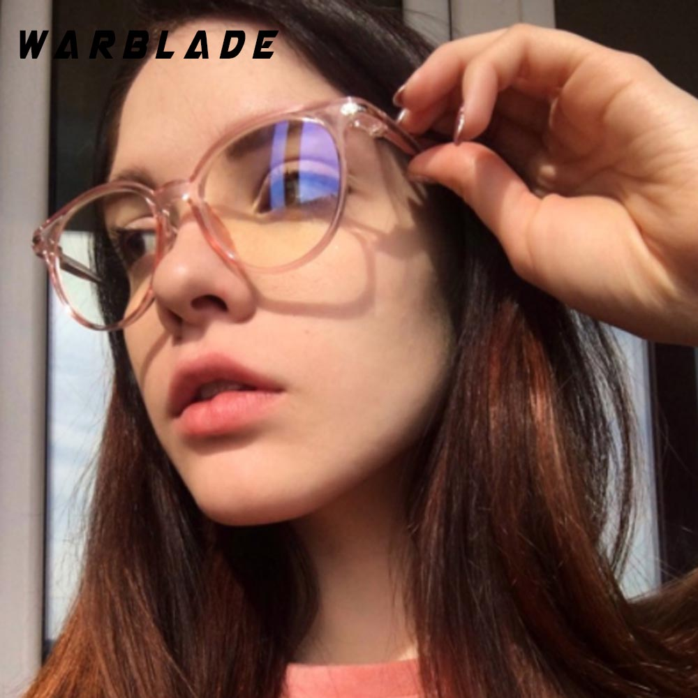2019 Women Glasses Frame Men Anti Blue Light Eyeglasses Frame Vintage Round Clear Lens Glasses Optical Spectacle Frame