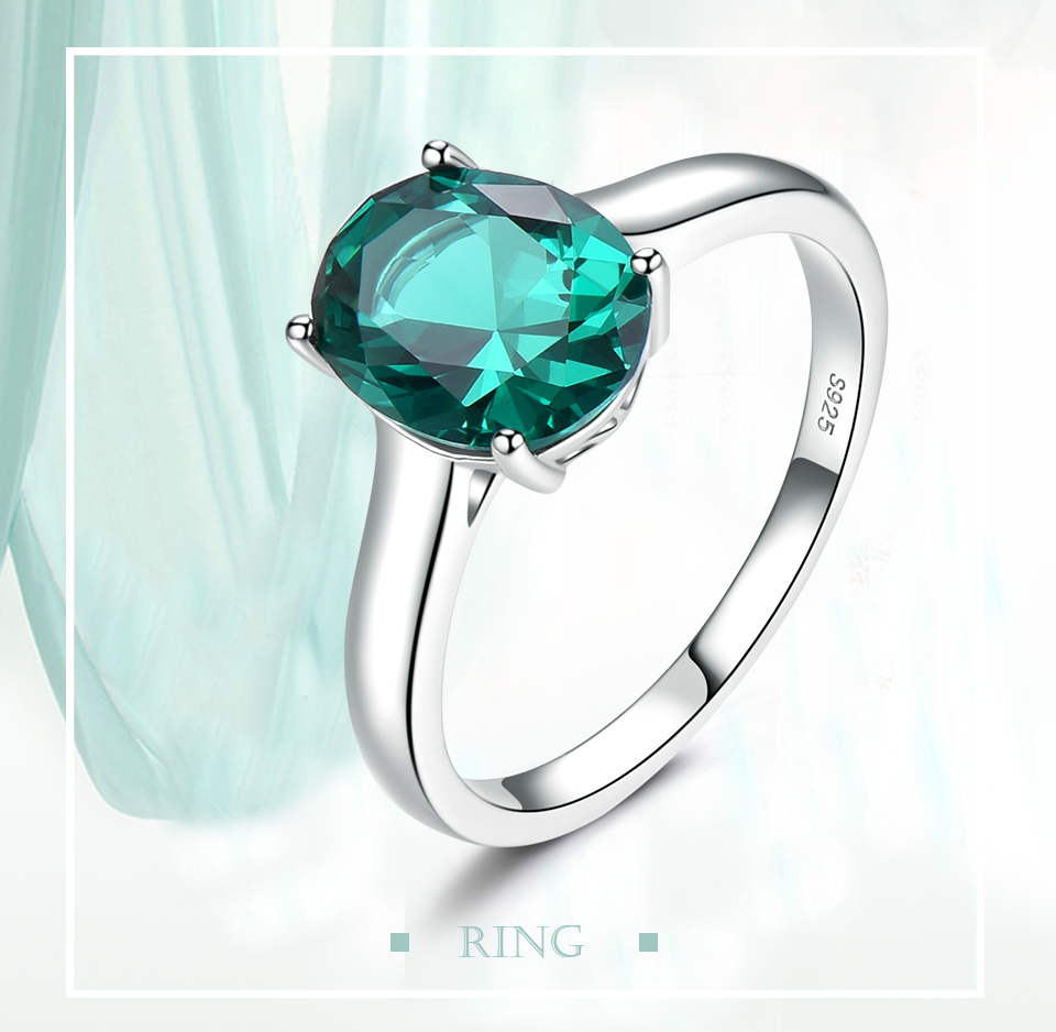 UMCHO ?Emerald   925 sterling silver ring for women NUJ095E-1-pc (1)
