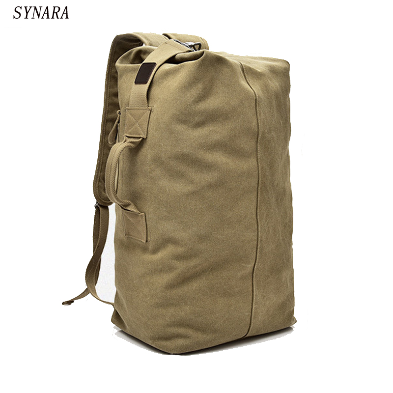 Synara Huge Travel Bag Large Capacity Men Backpack Canvas Weekend Bags Multifunctional Travel Bags