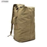 SYNARA Huge Travel Bag Large Capacity Men Backpack Canvas Weekend Bags Multifunctional Travel Bags