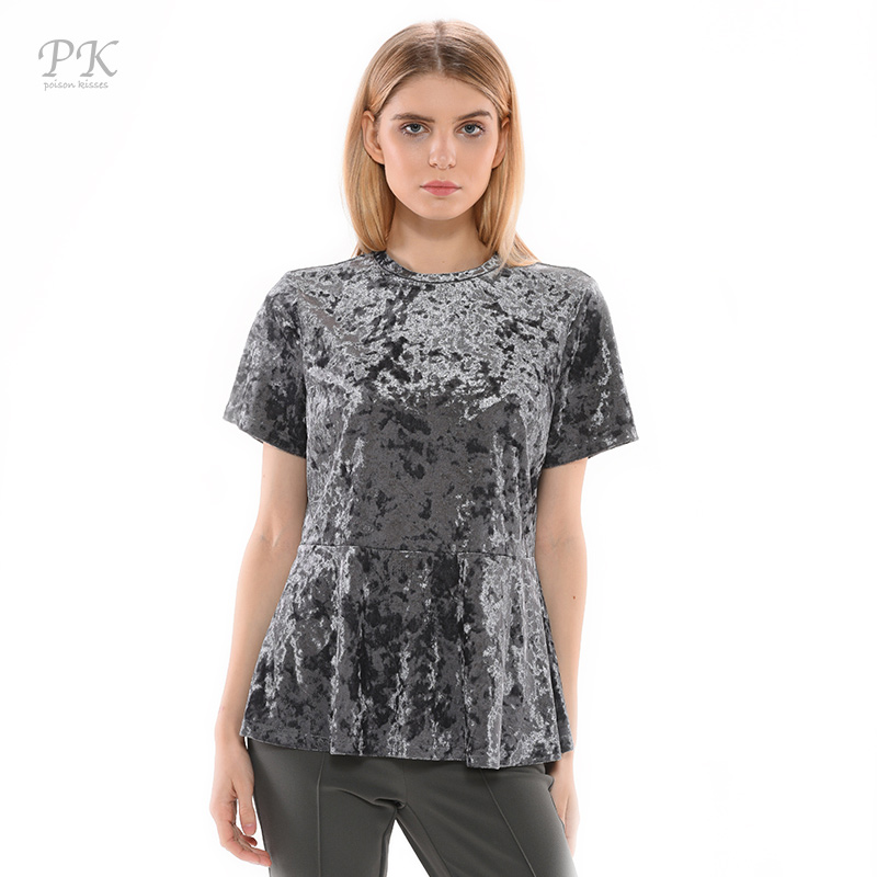 pk silver metallic shirt 2017 velvet puck car styling tee. Black Bedroom Furniture Sets. Home Design Ideas