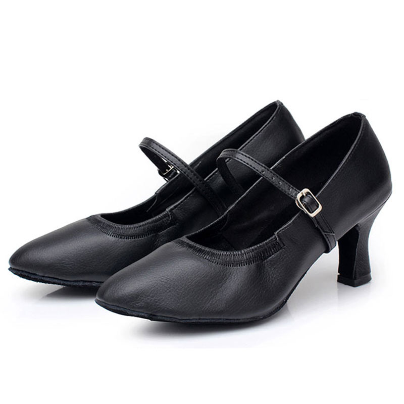 Latin Dance Shoes Women Medium Heels 5cm/7cm Modern Salsa Ballroom Dancing Shoes Soft Sole Woman's Tango Dance Shoes