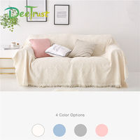 4 Pure Color Double Plaid Knitted Blanket For Throw on Sofa Beds Soft Bed Plaid Home Decor Piano Cover Tapestry Cobertor