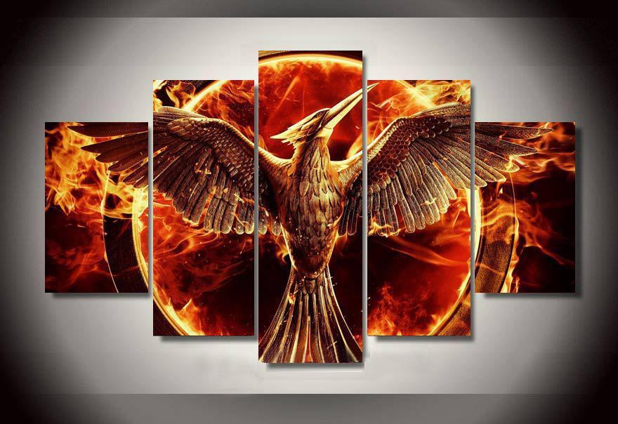 Wall Art Hunger Games Group Painting By Numbers For Home Decor Print Poster Picture Canvas Decoration