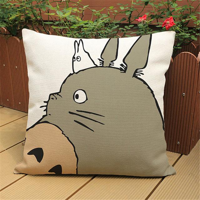SALE!! 45x45cm Cute Totoro Retro Pillow Cover