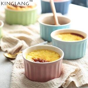 Керамическая креативная чашка для суфле KINGLANG, мини-форма для выпечки, специальная печь, чашка для выпечки, посуда для пудинга