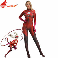 Costumebuy Persona 5 Anne Takamaki Phantom Thief Panther Cosplay Costume Bodysuit Jumpsuit Adult Women Men Kid Halloween Outfits