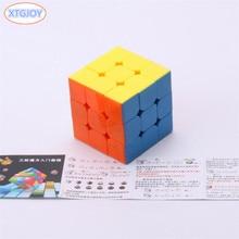 1Pcs Klasszikus Játékok Cube 3x3x3 ABS Sticker Block Puzzle Speed Magic Cube Csomag Oktatás és Oktatás Puzzle Cubo Magico Játékok