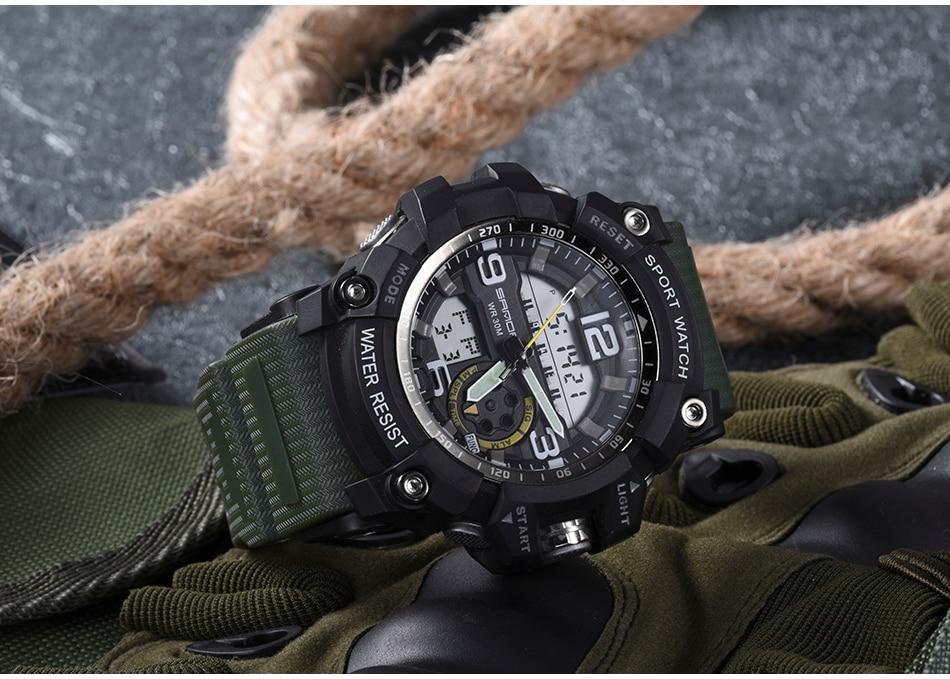 HTB18uHRuoR1BeNjy0Fmq6z0wVXab SANDA 759 Sports Men's Watches Top Brand Luxury Military Quartz Watch Men Waterproof S Shock Wristwatches relogio masculino 2019