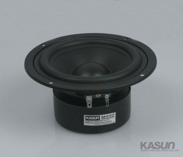 2PCS Kasun QA-5101F 5inch Midrange Speaker Driver Unit Black PP Cone Shielded 8ohm 90W Fs=65Hz D147mm