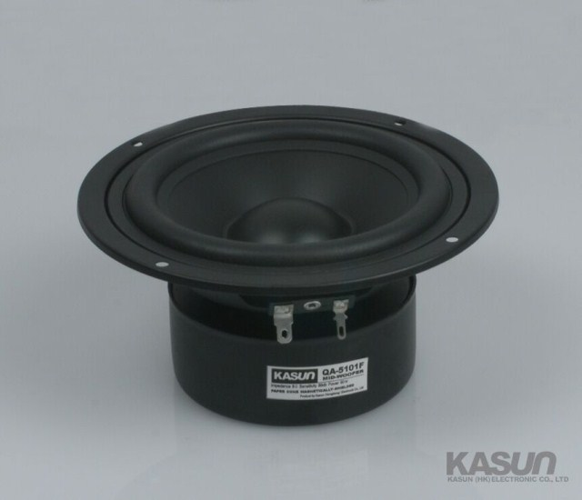 2PCS Kasun QA-5101F 5inch midrange speaker magnetism shielded mid-woofer power handling 90W kasun mtd 350 5 5inch high performance silk dome mid tweeter midrange speaker 100hz 10khz