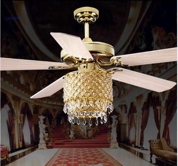 Golden k9 crystal ceiling fan 5242 modern fashion ceiling crystal golden k9 crystal ceiling fan 5242 modern fashion ceiling crystal fan lights home indoor mozeypictures Choice Image