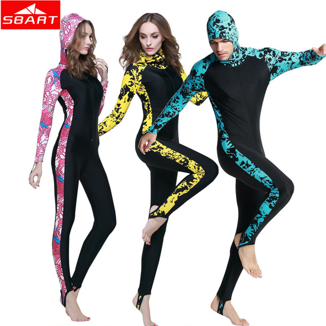 Women Men Swimming Wetsuit Long Sleeve Wear Spearfishing Surfing Diving Swimming Wetsuits Hooded Plus 4XL Scuba Swimming Wetsuit