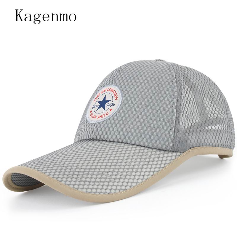 Kagenmo 2018 New Spring And Summer Mesh Baseball Cap Long Brim 10CM Golf Hat Breathable Mesh Visor Cool Unisex Sport Hats tropic hats mesh cap w camouflage front and visor adjustable one size