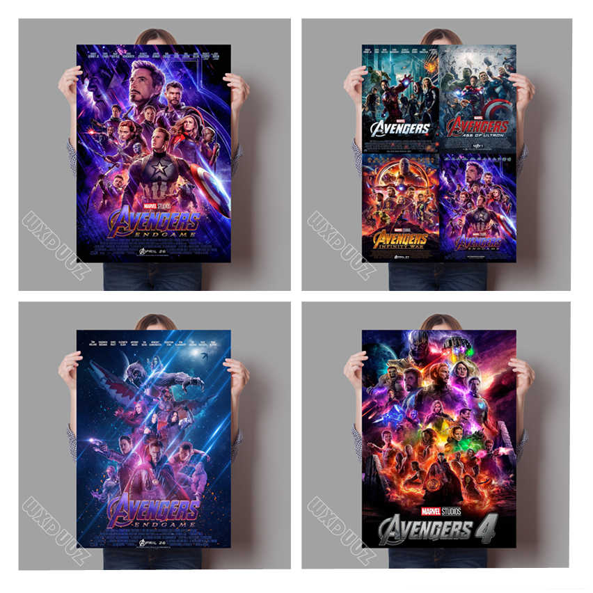 Avengers: Endgame Marvel Movies Movie Superhero Avengers Poster HD Home Decor Art Decor Nursery Kids Room canvas painting #K220