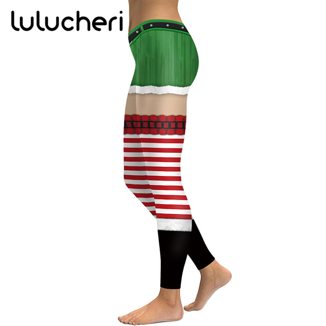2018 New Christmas Sexy Leggings For Women Girls Novelty Printing Leggins  Plus Size Funny Fitness Legins Ankle-Length Pants 75a10a045cc