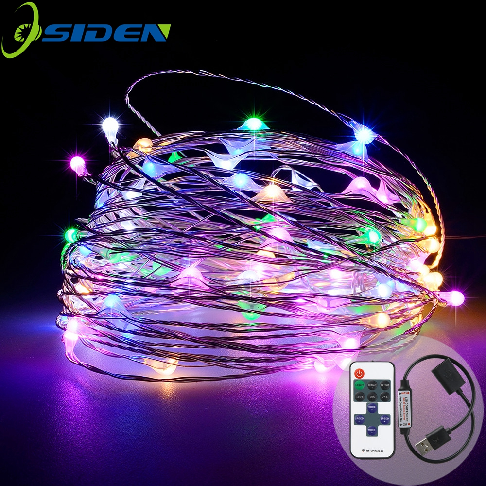 33ft 100LED String Lights Dimmable med fjernkontroll Vanntett Patio Garden Gate Partier Bryllup Kobber Wire Lights Warm Whit
