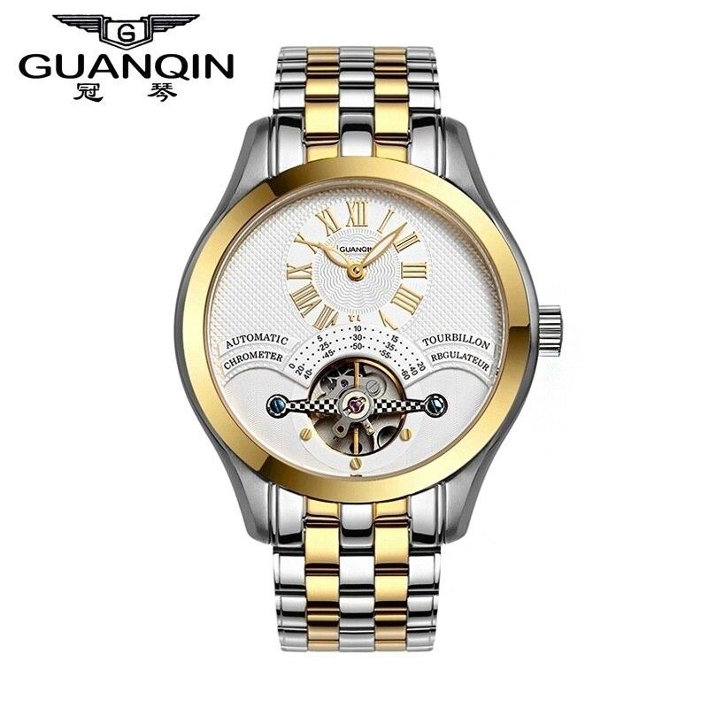 GUANQIN Watch Men Famous Brand Mechanical Watch Fashion Men Watch Luxury Shockproof Waterproof  Wristwatch Men relogio relojes цена 2016
