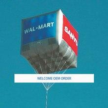 2 м на 2 м надувной квадратный рекламный Гелиевый шар
