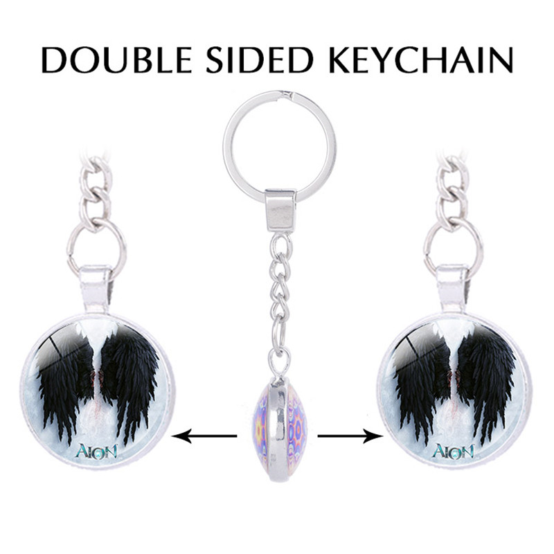 New Arrival Aion Game/Online Sorcerer Inspired Poster, Jewelry Pendants, Printed Double-sided Keychain/Key Holder