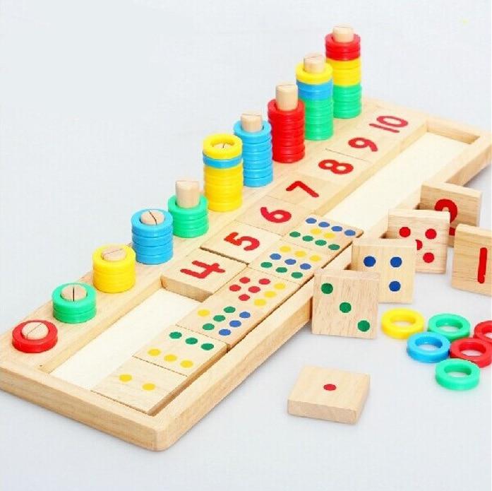 Brand New Colourful Montessori Teaching Math Mathematics Number Wood Board Preschool Educational Development Toy Child Gift W012