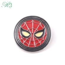 RJ New Avengers Spiderman Brooches Thor Loki Hammer Pins Justice League Batman Thanos Pin Lady Men Kids Coat Gift