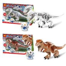 Lepin Original Jurassic World Building Blocks Sets Jurrassic Park 4 Dinosaur Model Compatible Legoe Bricks Toys For Children