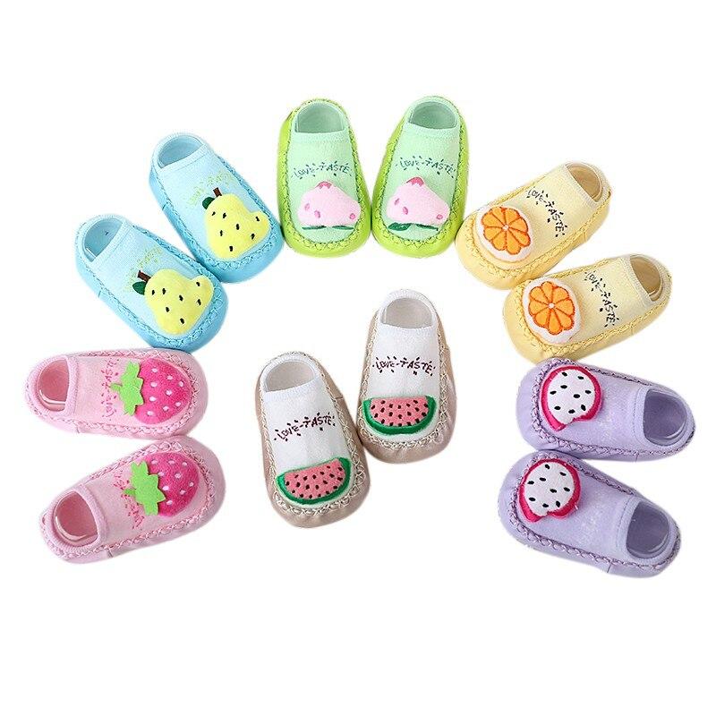 New Baby shoes socks Children Infant Cartoon Socks Baby Gift Kids Indoor Floor Socks Leather Sole Non-Slip Thick Towel Socks