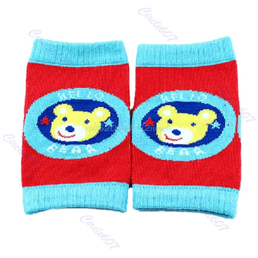 1 pair Baby Safety Knee Pad Kids Socks Children Short Kneepad Crawling Protector #T026#