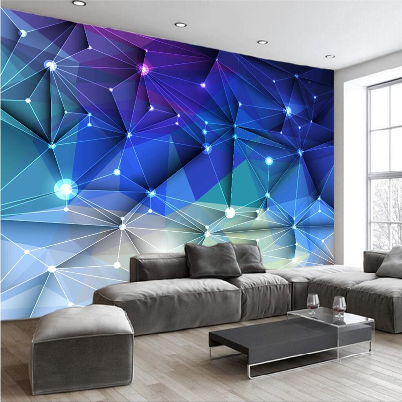 Beibehang Custom Wallpaper Mural Any Size 3D Abstract Blue