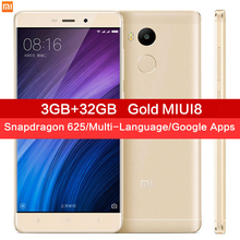 "Original Xiaomi Redmi 4 Pro 3GB RAM 32GB ROM Snapdragon 625 4100mAh Fingerprint ID 5.0"" Metal Body 13.0MP Redmi4 Mobile Phones"