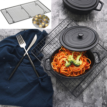 46x26cm Carbon Steel Grid Baked Frame Toast Baking Cake Stand for Foods Photography Props Studio Photo Accessories fotostudio