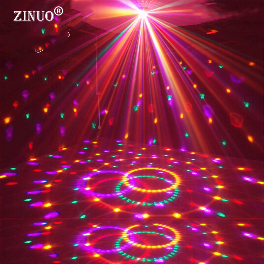 ZINUO Magic Ball LED Stage Lamps 20W Disco Stage Lighting Digital LED RGB Crystal Party Lights Disco Laser Light DJ Lamp 6w e27 led stage light rgb lamp with voice activated mp3 projector crystal magic ball rotating disco dj party stage lighting
