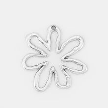 2pcs Tibetan Silver Tone Large Charms Open Daisy Flower Pendant For Diy Jewelry Making Findings Parts Material 62*64mm цена