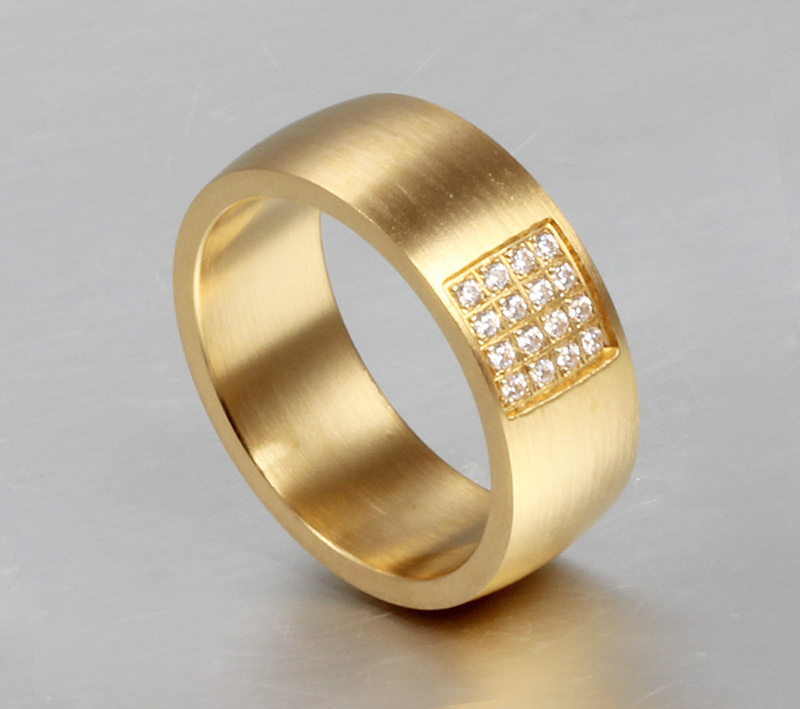 2018 Plate Cz Diameter Couple Ring Usa Size Special Offer Direct Selling Classic Anel 8mm Wedding Rings For Stainless Steel