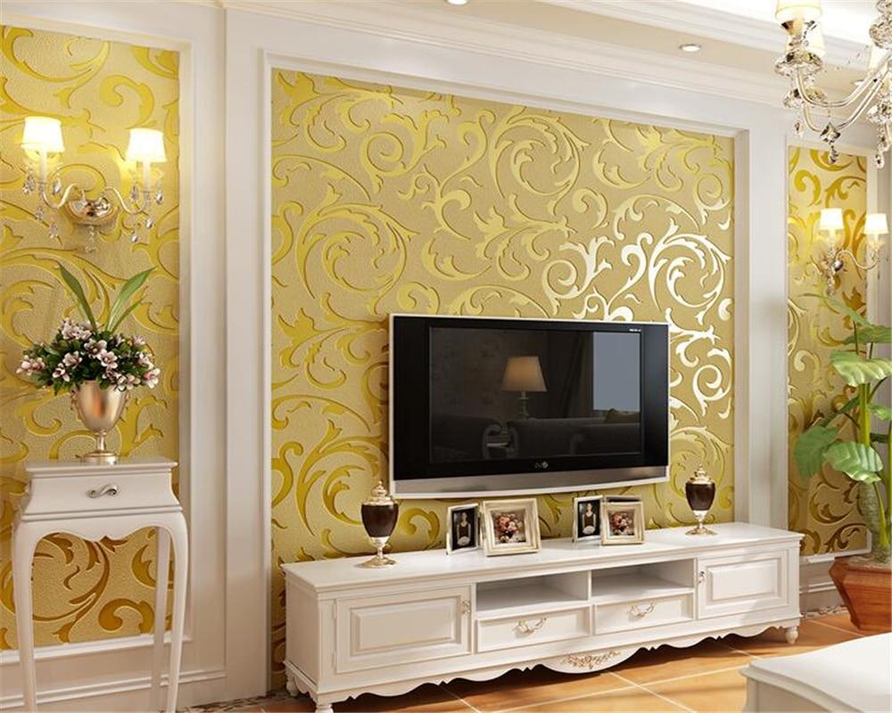 Beibehang Haute qualité fleur rotin TV mur papier peint 3d en trois dimensions relief scorpion bouillon feuille or argent 3D papier peint