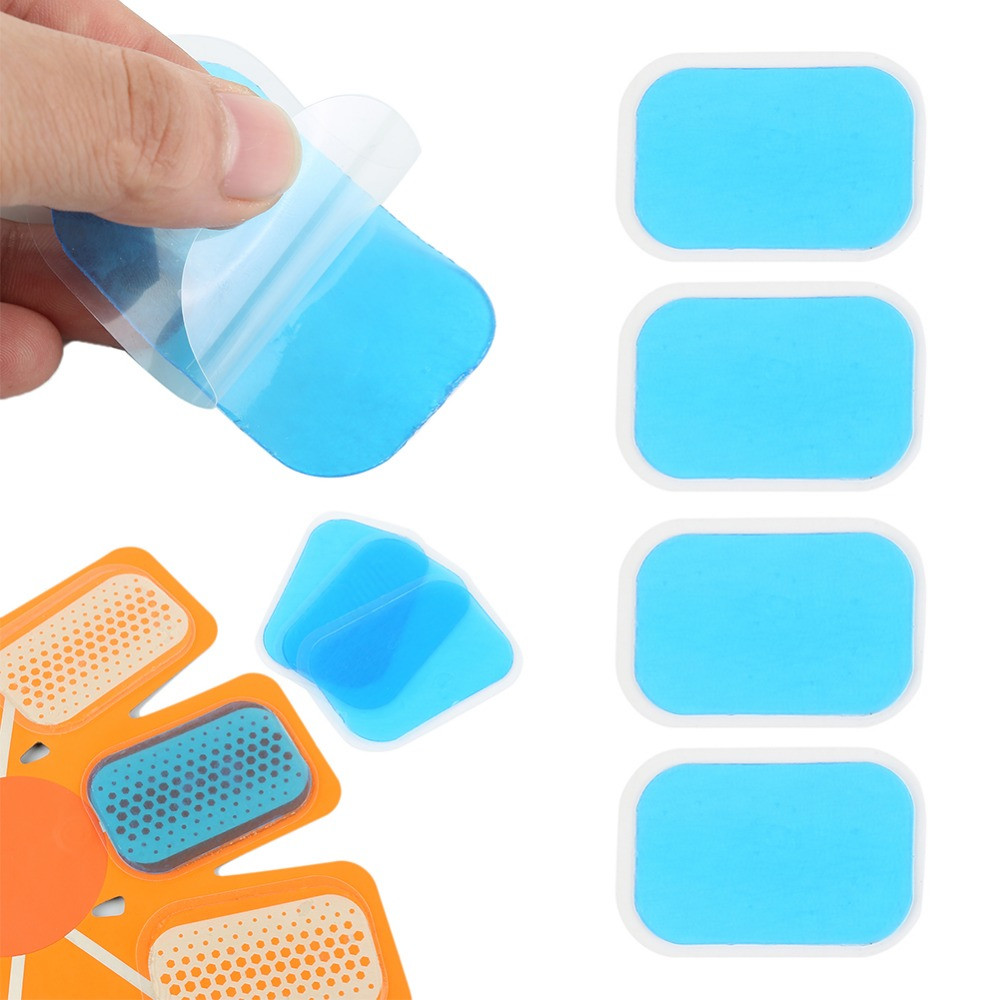 12Pcs Fitness Abdominal Muscle Stimulator Gel Pad Stickers Hydrogel Stickers Patch Replacement EMS Trainer Abdominal Gel Sticker in Accessories from Sports Entertainment