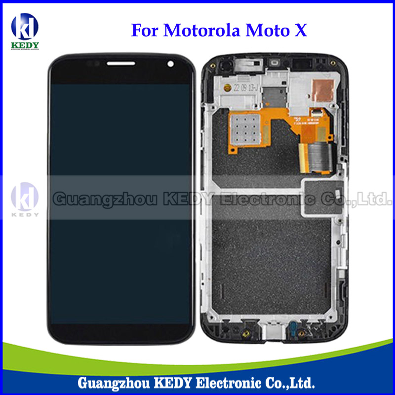 ФОТО 20pcs Original LCD Display with Frame Spare Parts For Motorola Moto X XT1058 XT1060 XT1053 LCD Touch Screen Assembly