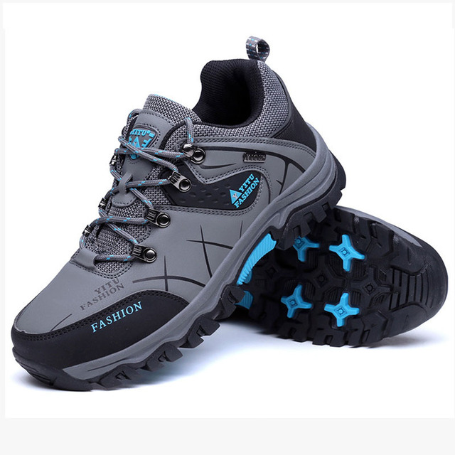 Autumn Winter Men Mountain Hiking Shoes Athletic Leather Hunting Boots Outdoor Sport Antislip Climbing Trek Sneakers Big Size