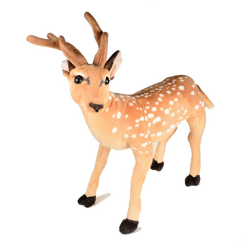 Plush Christmas Gift Toy Reindeer Elk Deer Animal Toys Big Size 50x60 CM huge 90x70cm sika deer plush toy standing pose deer doll christmas gift b4694