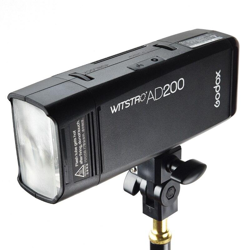 GODOX TTL AD200 2.4G 1/8000 s HSS Bolso Luz do Flash Dupla cabeça 200Ws com 2900 mAh Bateria De Lítio com 2.4G sem fio X sistema