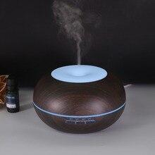 купить Dark Wood 300ml Air Humidifier Ultrasonic Aroma Essential Oil Diffuser Home Air Purifier Color Light Aromatherapy Humidificador по цене 1627.63 рублей
