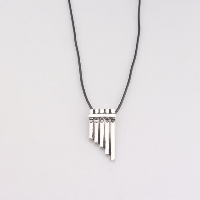 b7904dfd731 Fashion Jewelry Silver Charm Necklaces Peter Pan Magic Flute Pendant  Necklace For Men And Women Jewelry