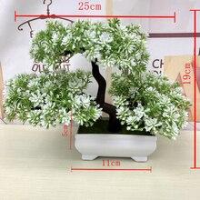 Ganoderma дерево лотоса сосны искусственный цветок растения бонсай искусственный зеленый горшок растения украшения домашний Декор Ремесло