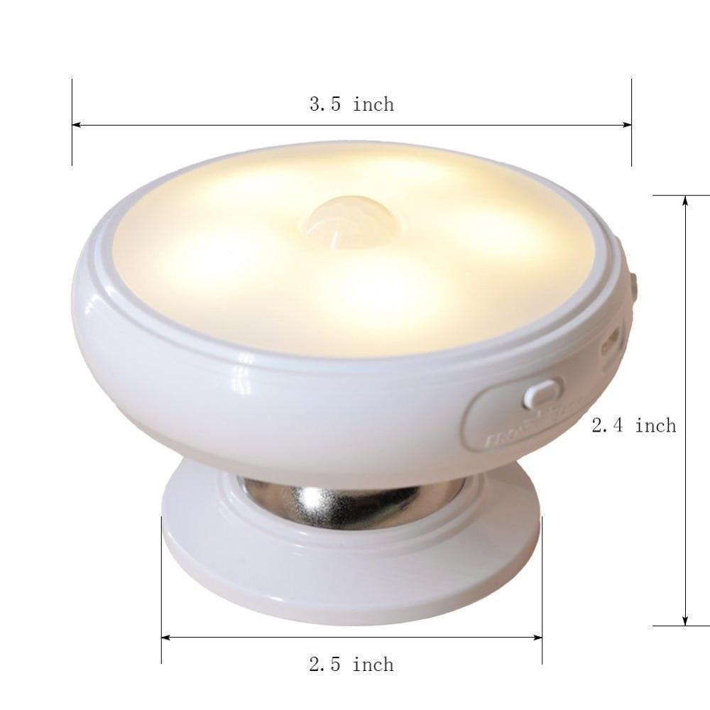 Tanbaby 360-degree rotating body charge LED motion sensor night light family