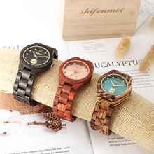 Shifenmei Wood Watches Women Luxury Natural Quartz Watch Clock Fashion Wooden Business for Gift relogio feminino