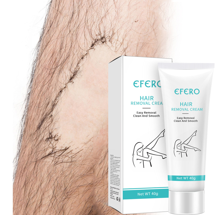 EFERO Unisex Hair Removal Cream for Women Men Body Face Hair Epilator Armpit Legs Hand Hair Remover Depilador Cream Shaving 40g