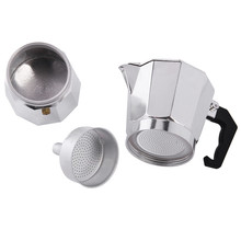 Moka Espresso Coffee Maker Machine /glantop Aluminum 3cup Italian Stove Top percolator Pot Tool