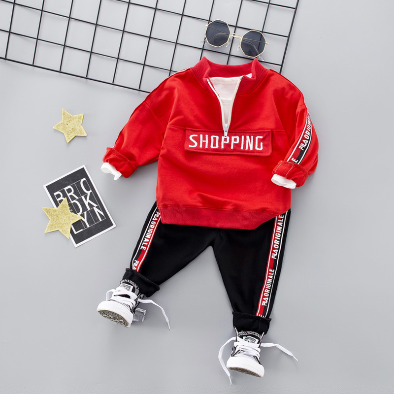 Kids Sport Suit Boys Girls Casual Clothing Set 2019 Zipper Sports Clothes For 1 2 3 4 Years Children Tracksuit