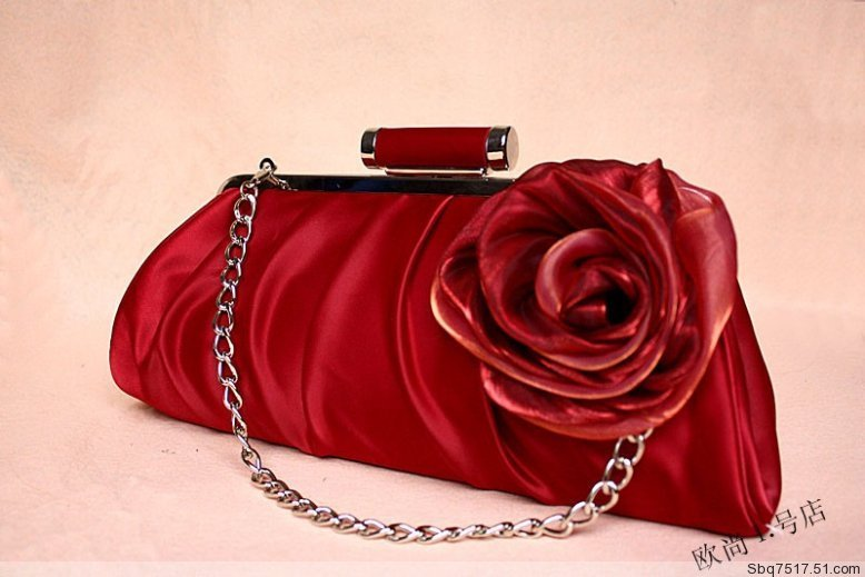 Us 29 0 Women Red Satin Flower Evening Wedding Party Handbag Bridal Purse Clutch In Clutches From Luggage Bags On Aliexpress Com Alibaba Group